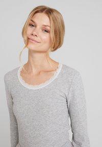 Hunkemöller - Nattøj trøjer - warm grey melange - 3