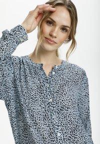 Kaffe - Button-down blouse - chambray blue, black dot - 3