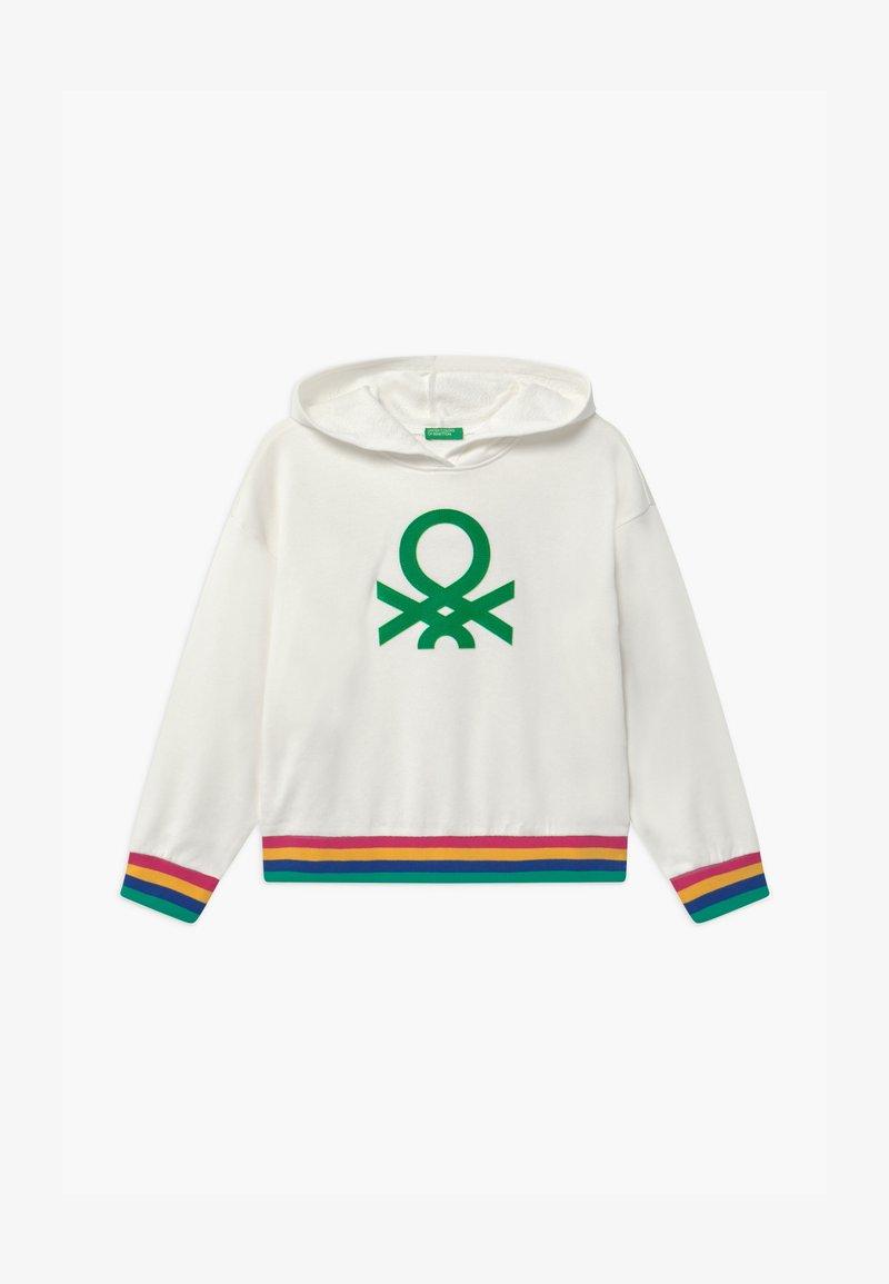 Benetton - BASIC GIRL - Mikina skapucí - white