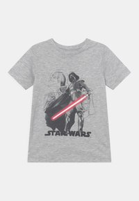 Jack & Jones Junior - JCOGALAXY TEE CREW NECK JR STAR WARS - Print T-shirt - light grey melange - 0