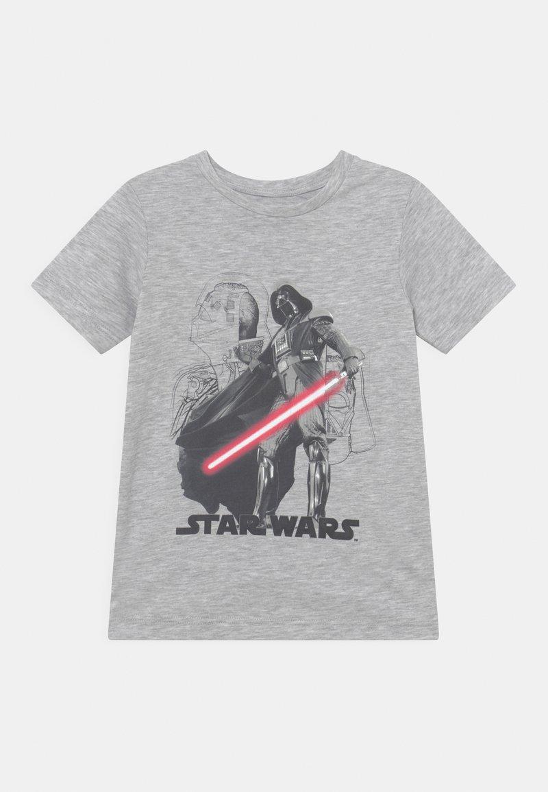 Jack & Jones Junior - JCOGALAXY TEE CREW NECK JR STAR WARS - Print T-shirt - light grey melange