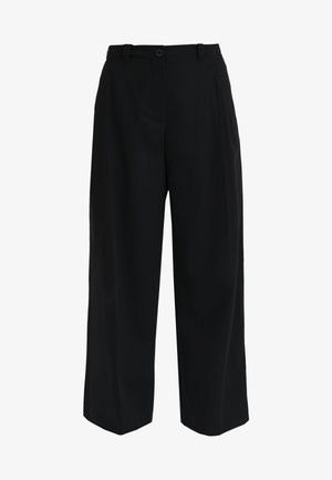 LOOSE PANTS - Trousers - black
