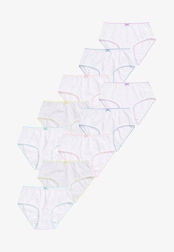 TEN PACK - Briefs - white