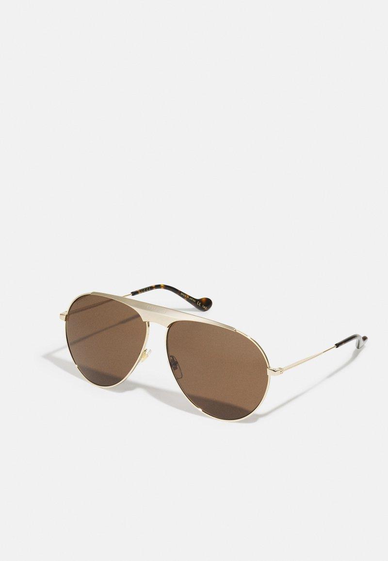 Gucci - UNISEX - Sunglasses - gold-coloured/brown