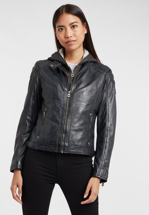 GABBY LAMAS - Leather jacket - navy