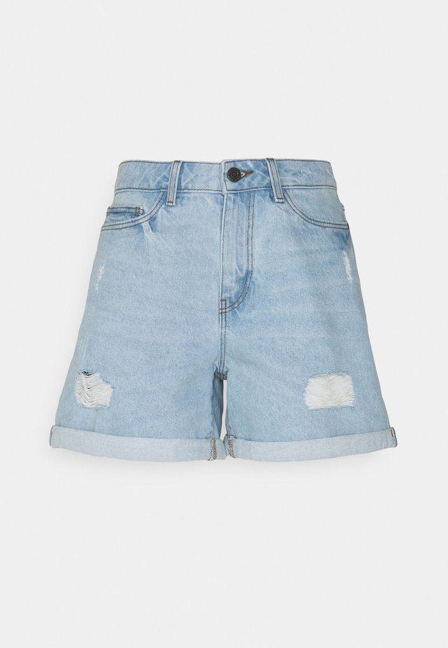 NMSMILEY - Shorts di jeans - light blue denim