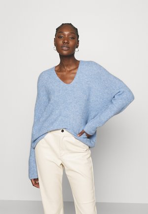 THORA V NECK - Jumper - bel air blue