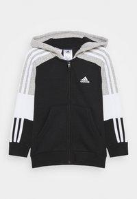 adidas Performance - Zip-up hoodie - black/medium grey heather/white - 0