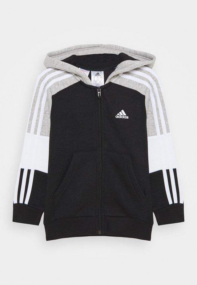 Felpa aperta - black/medium grey heather/white