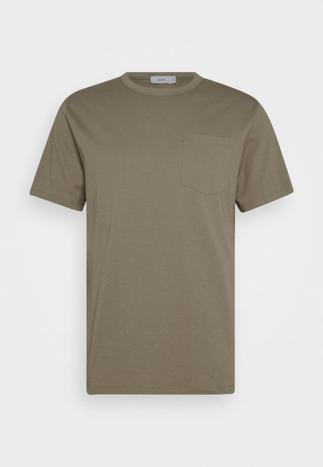 BASIC  - T-shirts - muddy beige