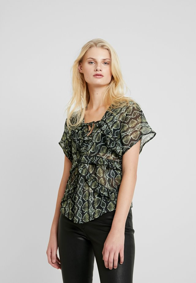 LOLA - Blouse - beige/black