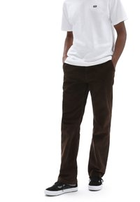 Vans - MN AUTHENTIC CHINO CORD RELAXED PANT - Trousers - demitasse - 0