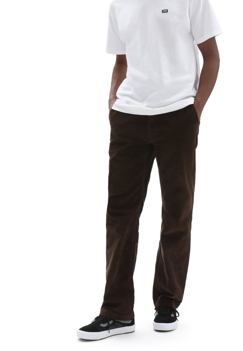 Vans - MN AUTHENTIC CHINO CORD RELAXED PANT - Trousers - demitasse