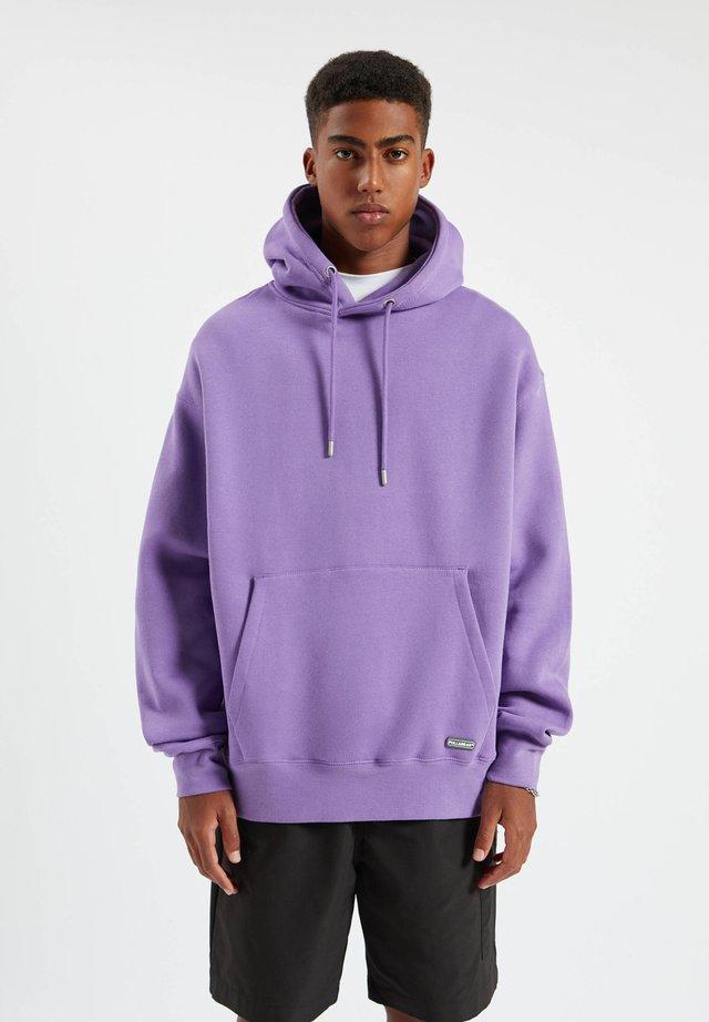 Felpa con cappuccio - purple