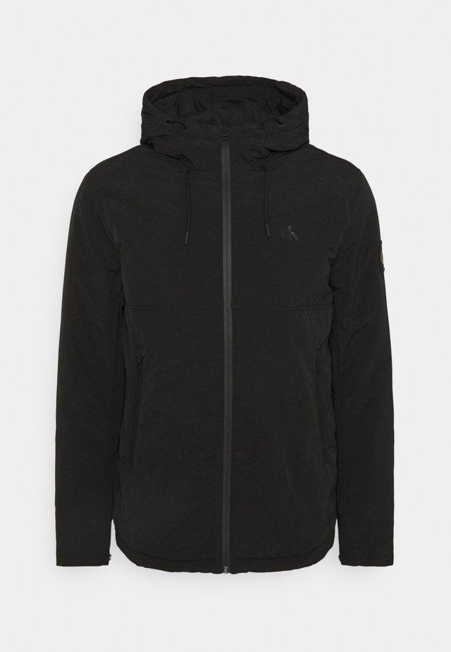HOODED NEW HARRINGTON JACKET - Lehká bunda - black