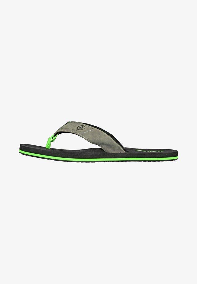 T-bar sandals - schwarz/grün
