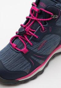Keen - TERRADORA II MID WP UNISEX - Hiking shoes - black iris/pink peacock - 5