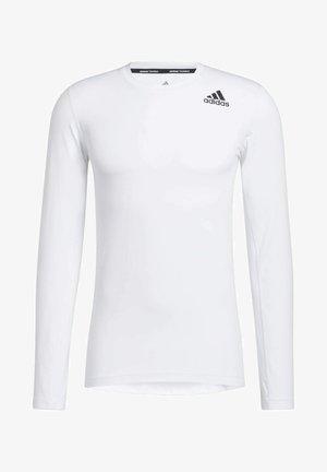 PRIMEGREEN COMPRESSION LONG SLEEVE T-SHIRT - Camiseta de manga larga - white