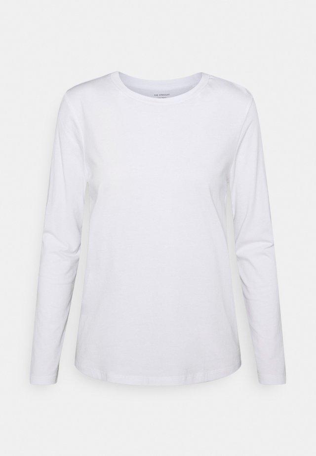 STRAIGHT CREW - Top sdlouhým rukávem - white