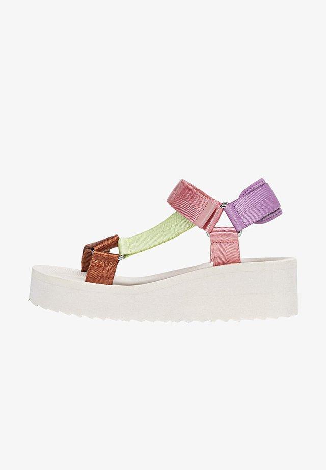 Sandalen met plateauzool - multi-coloured