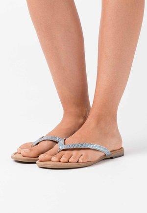 SLIDES - Sandalias de dedo - aqua