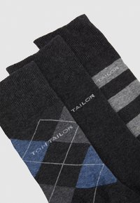 TOM TAILOR - SOCKS GRAPHICS 4 PACK - Strumpor - anthracite - 1