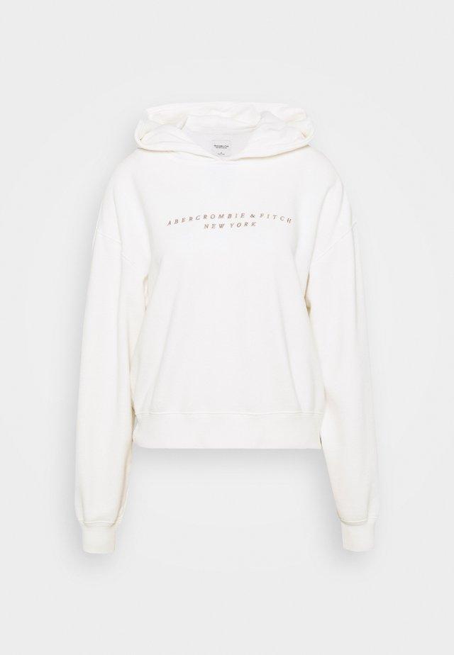 SEASONAL LOGO - Bluza z kapturem - white