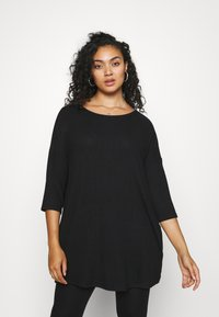 CAPSULE by Simply Be - SOFT TOUCH SIDE POCKET - T-shirts - black - 0