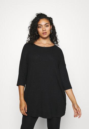 SOFT TOUCH SIDE POCKET - Basic T-shirt - black