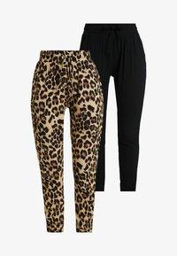 Urban Classics - LADIES ELASTIC WAIST PANTS 2 PACK - Trousers - black - 5
