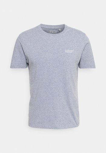 KURZARM - T-shirt - bas - blue melange