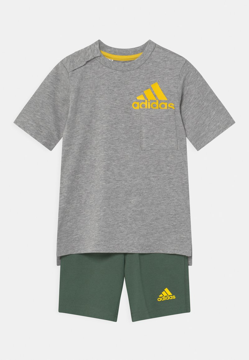 adidas Performance - SUM SET UNISEX - Camiseta estampada - grey/yellow