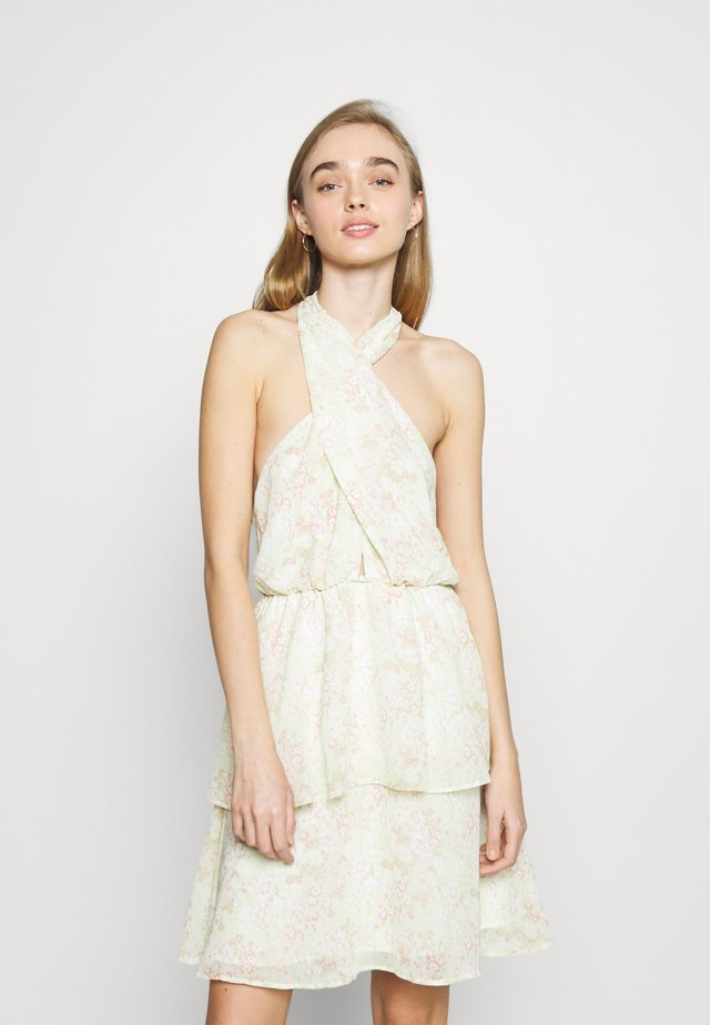 EXCLUSIVE MALVA HALTERNECK DRESS - Cocktailjurk - green