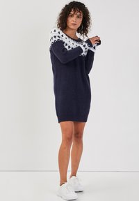 Cache Cache - GERADES - Jumper dress - bleu marine - 3