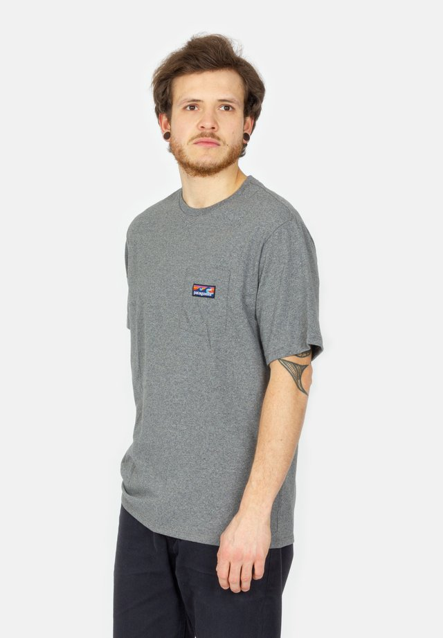 Print T-shirt - gravel heather