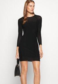 Calvin Klein Jeans - DOUBLE LAYER DRESS - Day dress - black - 5