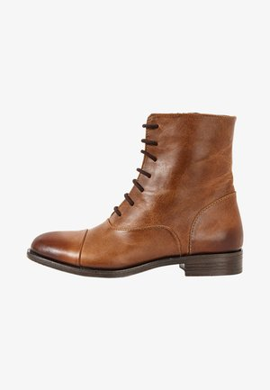Lace-up ankle boots - tan tan