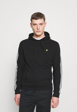 SIDE PANEL HOODIE - Sweatshirt - jet black