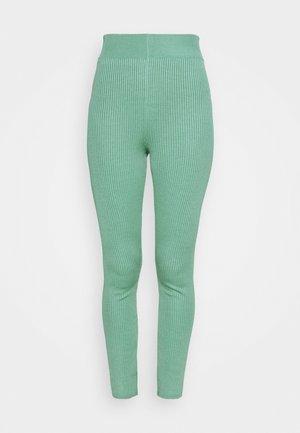 RIB LEGGING  - Leggings - Trousers - green
