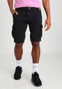 INDICODE JEANS - MONROE - Shorts - black - 0