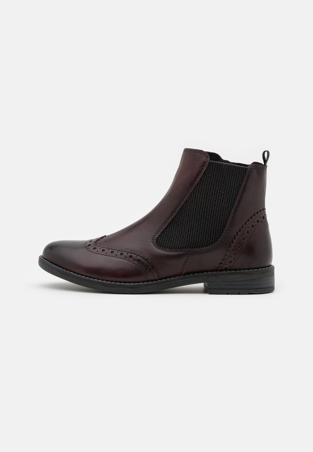 Ankle boots - bordeaux