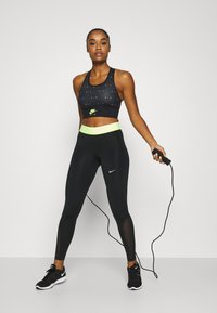 Nike Performance - AIR BRA  - Sport BH - black/volt - 1