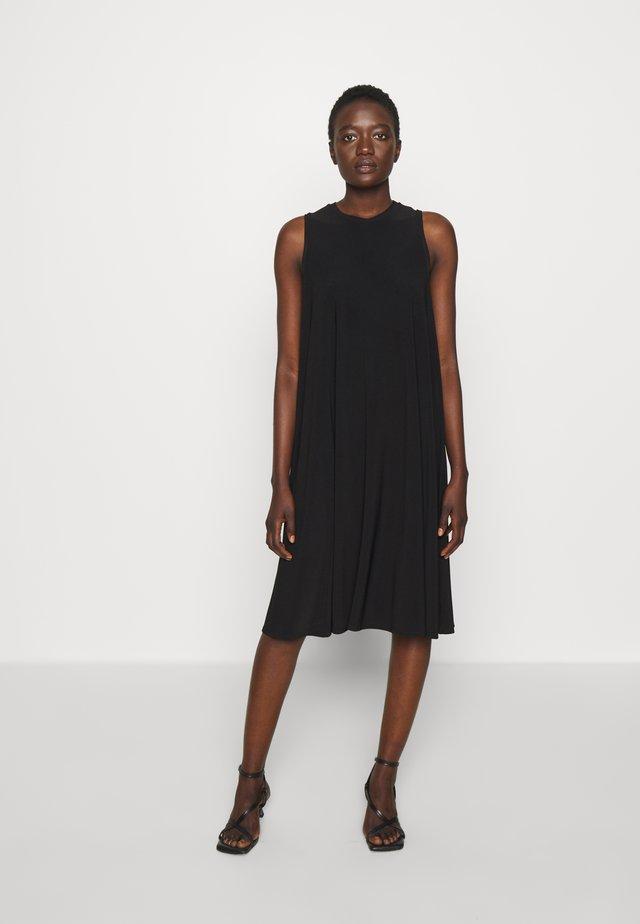 RIBALDO - Jersey dress - black