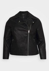 New Look Curves - BIKER - Faux leather jacket - black - 6