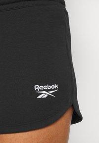 Reebok - FRENCH TERRY SHORT - Pantalón corto de deporte - black - 3