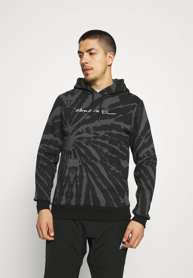 AVALON TIE DYE HOODIE - Sweater - asphalt/black