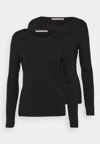 Anna Field - 2 PACK - Bluzka z długim rękawem - black/black - 0