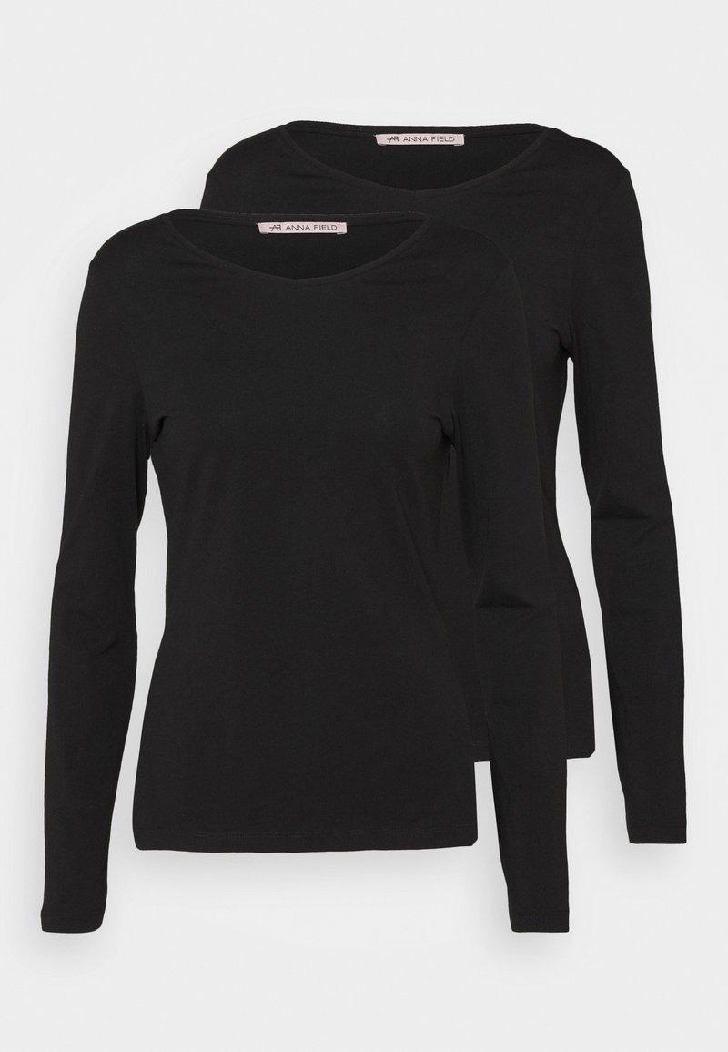 Anna Field - 2 PACK - Bluzka z długim rękawem - black/black
