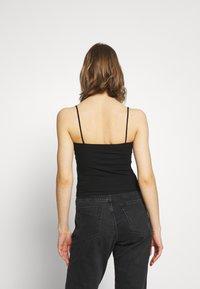 Gina Tricot - SCARLETT SINGLET 2 PACK - Topper - black/black - 3