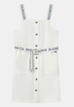 BUTTON DOWN LOGO STRAP  - Day dress - white
